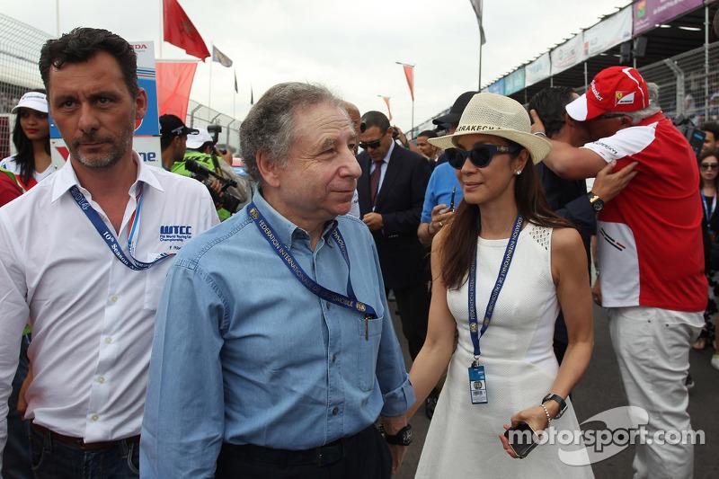Francois Ribeiro, Eurosport e Jean Todt, presidente della FIA con la moglie Michelle Yeoh