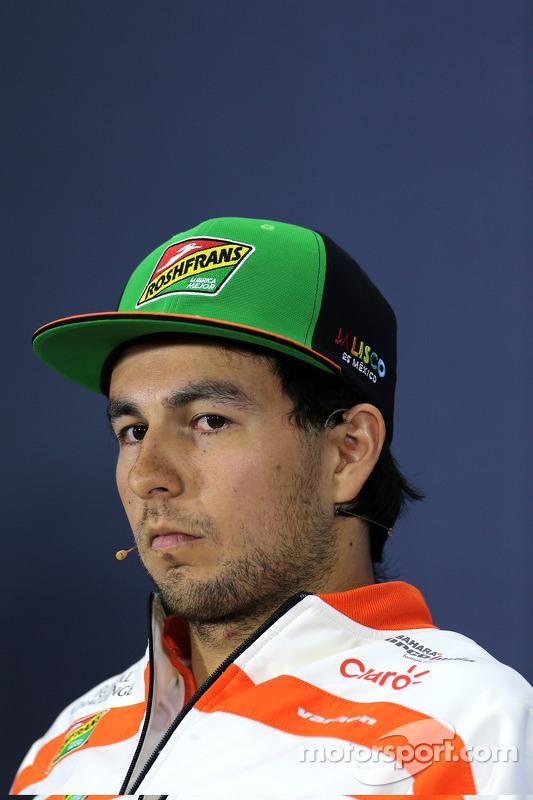 Sergio Perez, Sahara Force India, in conferenza stampa
