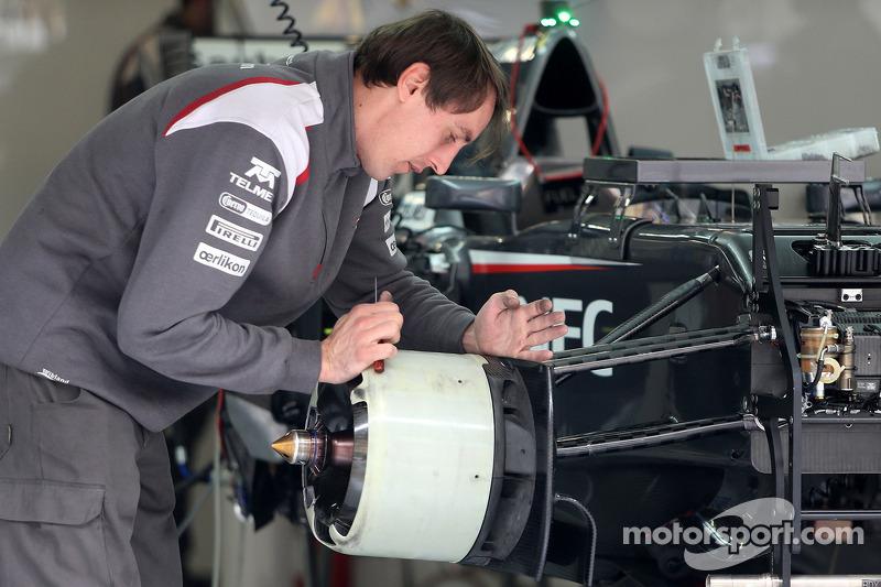 Sauber F1 Team mecânico