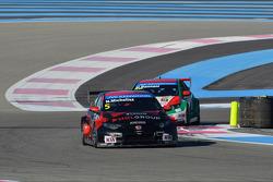 Norbert Michelisz, Honda Civic WTCC, Zengo Motorsport  and Mehdi Bennani, Honda Civic WTCC, Proteam Racing