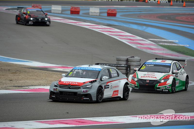 Yvan Muller, Citroën C-Elysee WTCC, Citroën Total WTCC e Gabriele Tarquini, Honda Civic WTCC, Castrol Honda WTCC Team