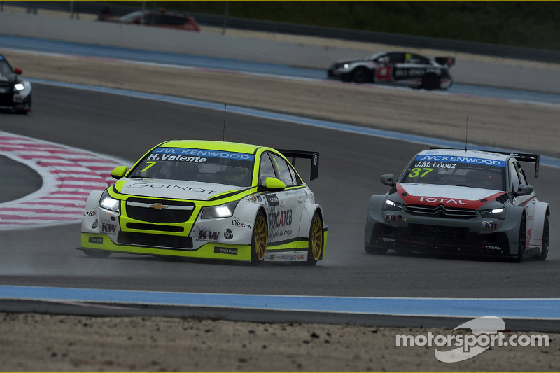 Hugo Valente, Chevrolet Cruze RML TC1, Campos Racing e Jose Maria Lopez, Citroën C-Elysee WTCC, Citroën Total WTCC