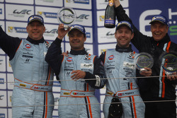 LM GTE AM podium: second place Paul Dalla Lana, Pedro Lamy, Christoffer Nygaard