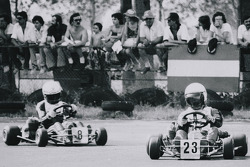 Terry Fullerton leads Ayrton Senna at Lido de Jesolo