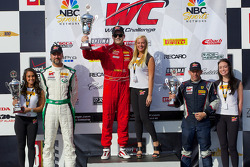 GT-A Class podium: race winner Nick Mancuso, second place Tim Pappas, third place Henrik Hedman