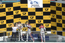Podium, Marco Wittmann, BMW Team RMG, BMW M4 DTM, Mattias Ekstrom, Audi Sport Team Abt Sportsline, Audi RS 5 DTM, Adrien Tambay, Audi Sport Team Abt, Audi RS 5 DTM