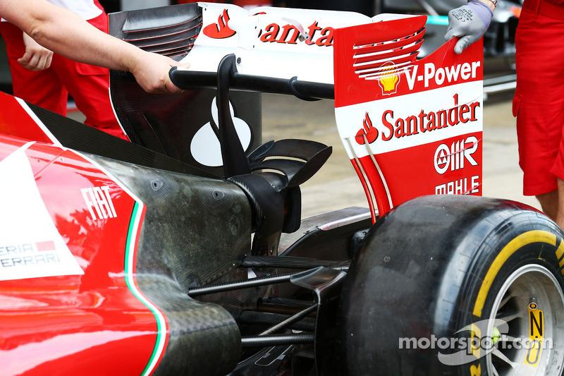 Ferrari F14-T arka kanat detayı