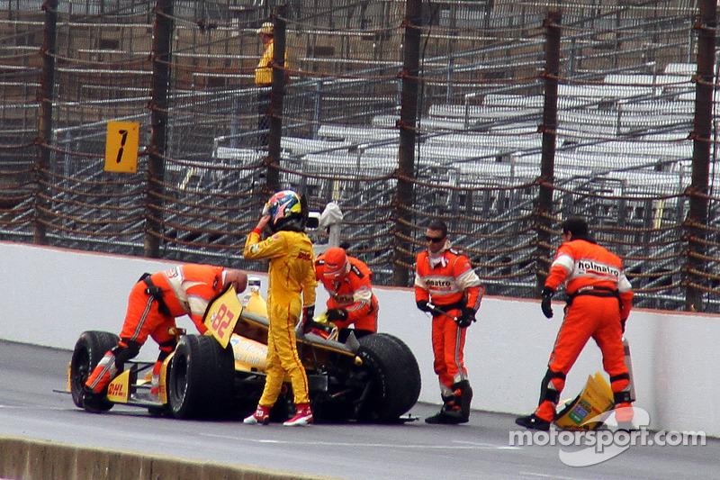 Trouble for Ryan Hunter-Reay, Andretti Autosport Honda