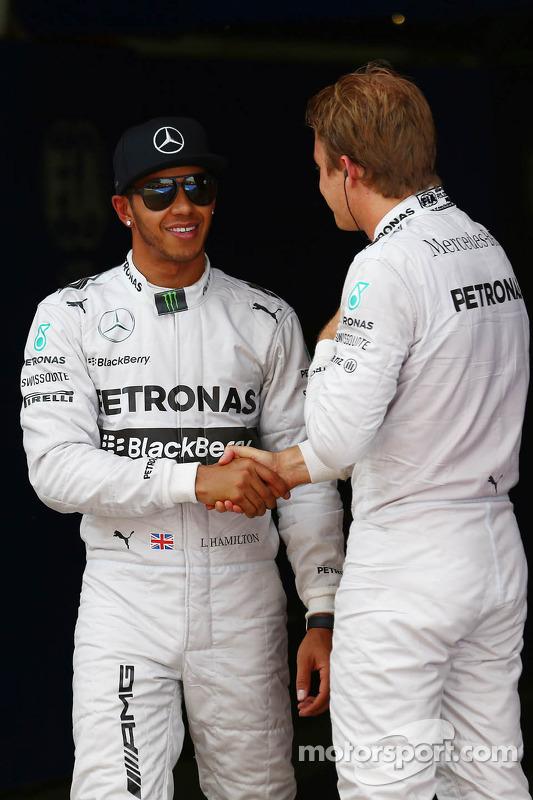 Pole para Lewis Hamilton, de Mercedes AMG F1 y segundo lugar para Nico Rosberg, de Mercedes AMG F1 W05