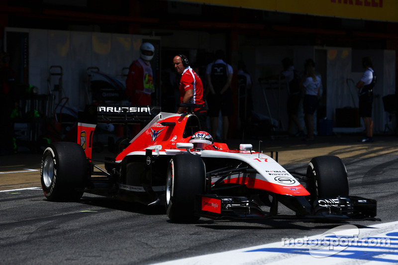 Jules Bianchi, Marussia F1 Takımı MR03 pitten ayrılıyor