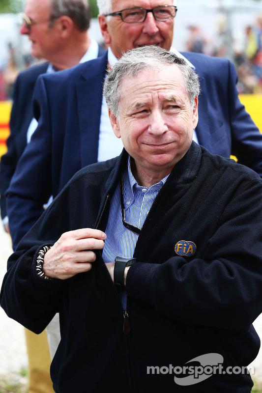 Jean Todt, presidente della FIA in griglia