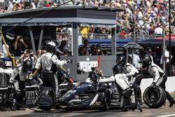 Jordan King, Ed Carpenter Racing Chevrolet, pit stop