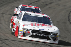 Cole Custer, Stewart-Haas Racing, Ford Mustang Haas Automation and John Hunter Nemechek, Chip Ganassi Racing, Chevrolet Camaro Fire Alarm Services, Inc