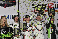 GTLM winners Patrick Pilet, Nick Tandy, Frédéric Makowiecki, Porsche Team North America