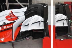 Ferrari SF71H front wing detail comparison with Austin GP 2017