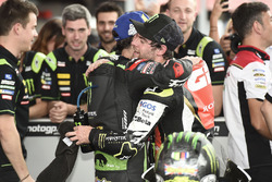 Race winner Cal Crutchlow, Team LCR Honda, Second place Johann Zarco, Monster Yamaha Tech 3