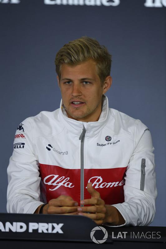 Marcus Ericsson, Sauber in the Press Conference