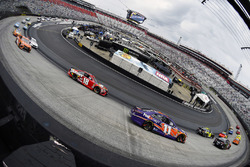 Denny Hamlin, Joe Gibbs Racing, Toyota Camry FedEx Freight and Kyle Busch, Joe Gibbs Racing, Toyota Camry Skittles