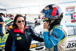 Third place #100 BMW Team SRM BMW M6 GT3: Steve Richards with his wife