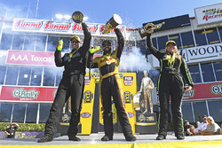 Pro Stock winner Matt Hartford, Funny Car winner J.R. Todd, Top Fuel winner Brittany Force