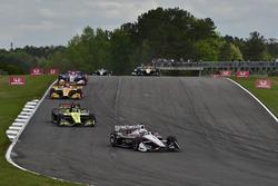 Josef Newgarden, Team Penske Chevrolet, Sébastien Bourdais, Dale Coyne Racing with Vasser-Sullivan Honda, Ryan Hunter-Reay, Andretti Autosport Honda