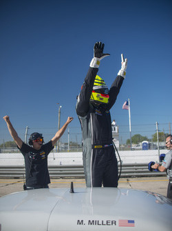 Marc Miller celebrates his win