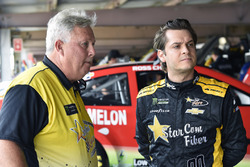 Landon Cassill, StarCom Racing, Chevrolet Camaro RNH ELECTRIC and Tony Furr