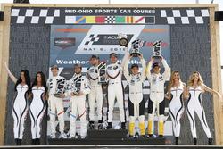 Podio GTLM: #25 BMW Team RLL BMW M8, GTLM: Alexander Sims, Connor de Phillippi, #912 Porsche Team North America Porsche 911 RSR, GTLM: Laurens Vanthoor, Earl Bamber, #3 Corvette Racing Chevrolet Corvette C7.R, GTLM: Antonio Garcia, Jan Magnussen, podium