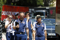 Lance Stroll, Williams Racing, walks the circuit