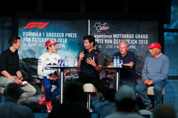 Marc Marquez, avec Mark Webber et Niki Lauda