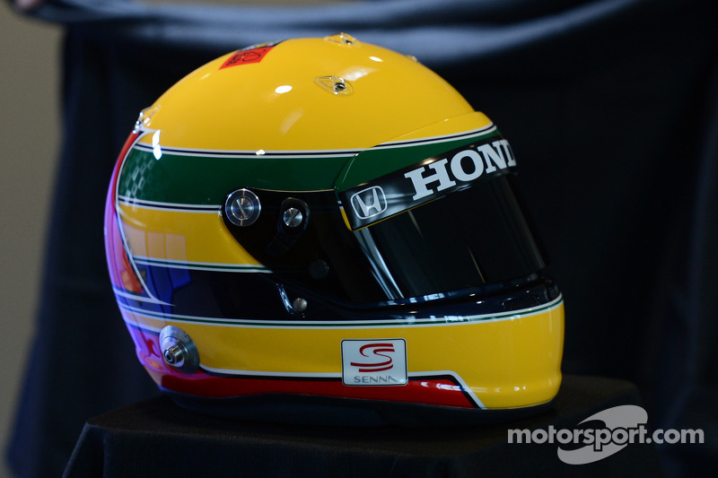 Tributo ad Ayrton Senna sul casco di Simon Pagenaud