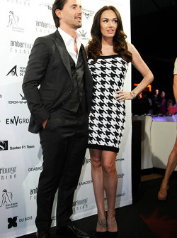 Tamara Ecclestone, with her husband Jay Rutland, at the Amber Lounge Fashion Show