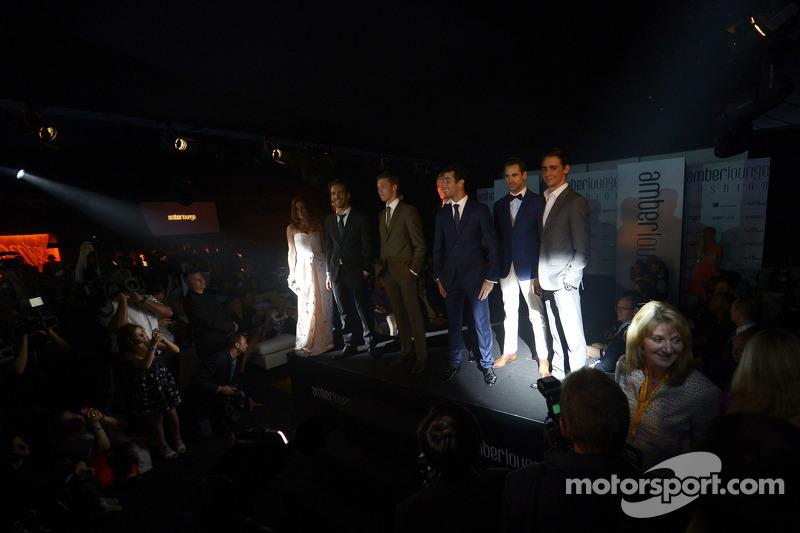 I piloti all'Amber Lounge Fashion Show, la Scuderia Toro Rosso; Daniil Kvyat, Scuderia Toro Rosso; M