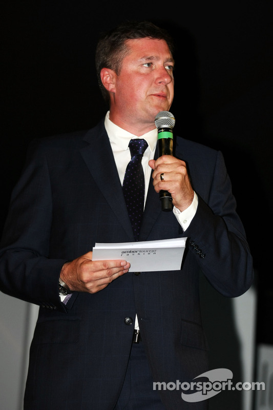 David Croft, comentarista da Sky Sports no Amber Lounge Fashion Show