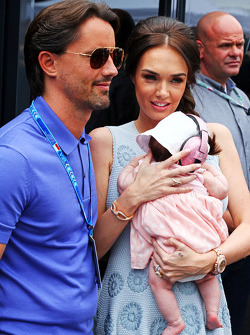 Tamara Ecclestone, and husband Jay Rutland, with their baby daughter Sophie