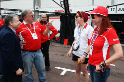 Jean Todt, FIA-Präsident; Andrei Cheglakov, Marussia, Teambesitzer; Sasha Cheglakov, Marussia, Teambesitzer; Anya Cheglakov,