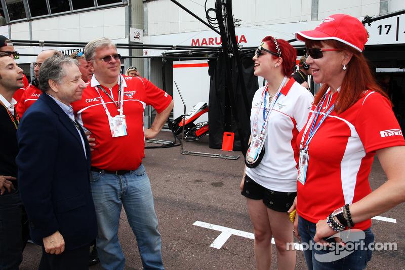 Jean Todt, presidente della FIA con Andrei Cheglakov, Marussia Team Owner; Sasha Cheglakov, Propriet
