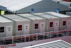 Le Mans paddock overview: Porsche Team drivers rooms