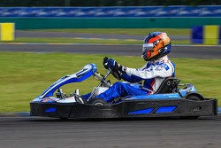 Media/drivers karting race: Nicolas Minassian