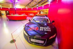 Audi R8 safety car on display
