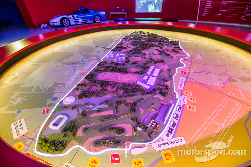A map of the Le Mans 24 Hours track