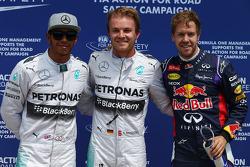 Pole Pozisyonu; Nico Rosberg, Mercedes AMG F1, ikinci Lewis Hamilton, Mercedes AMG F1 W05 ve 3. sıra