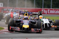 Daniel Ricciardo, Red Bull Racing Sergio Perez, Sahara Force India  08