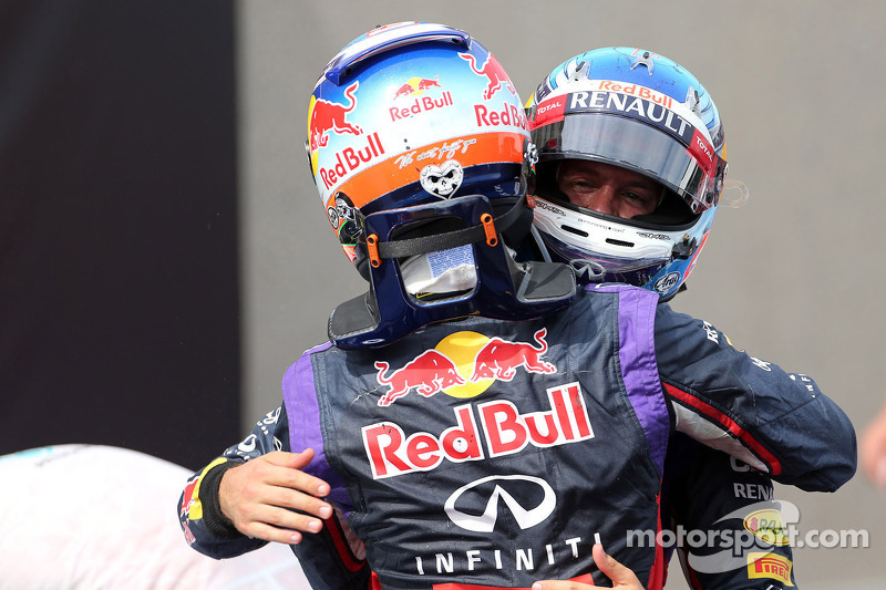 1. Daniel Ricciardo, Red Bull Racing; 3. Sebastian Vettel, Red Bull Racing