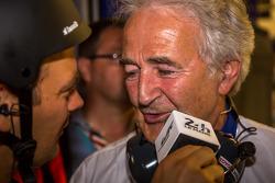 雨果·德·绍纳,在丰田赢得杆位后接受采访