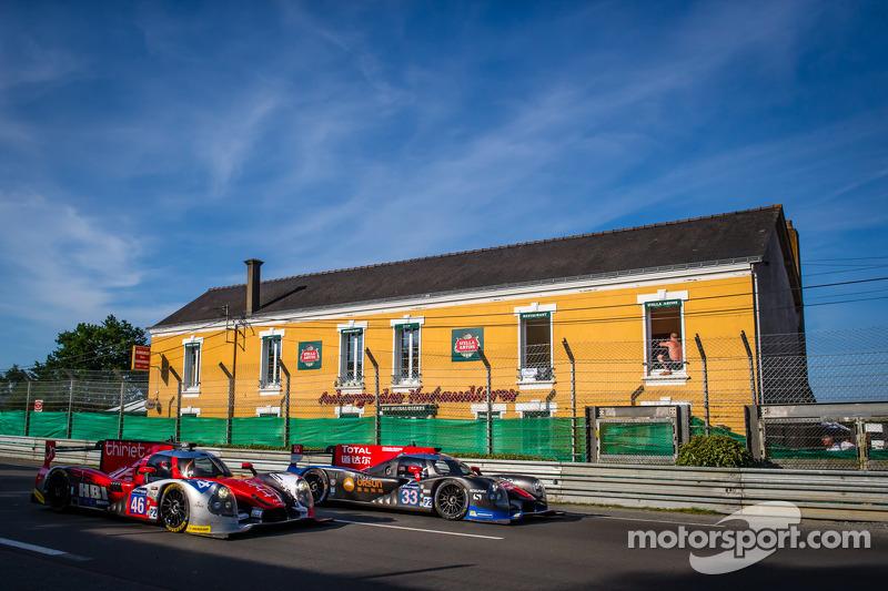 #46 Thiriet By TDS Racing Ligier JS P2 - 日产: 皮埃尔·蒂里耶, 路德维奇·巴代, 特里斯坦·戈蒙迪, #33 OAK Racing - 亚洲 Ligier