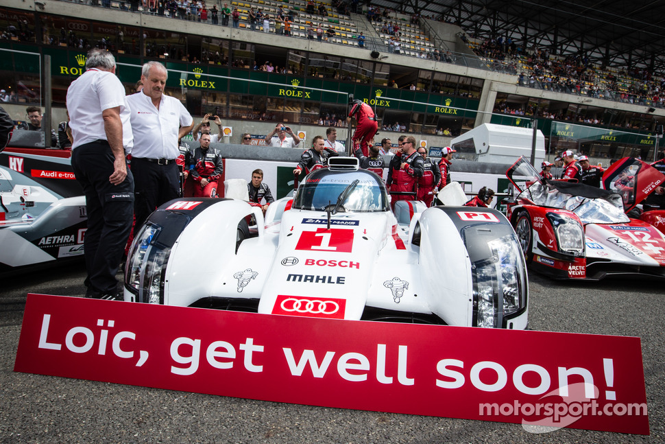 Get well message for Loic Duval