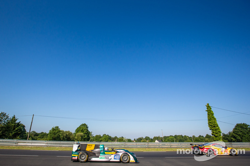 #66 JMW Motorsport 法拉利 458 Italia: 阿卜杜拉兹·阿尔费萨尔, 赛斯·奈曼, 斯潘瑟·庞佩利, #48 Murphy 原型车 Oreca 03 - 日产: 纳塔内尔·贝