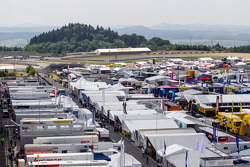 A view of the paddock
