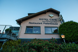 The legendary restaurant Pistenklause and hotel am Tiergarten, in Nürburg